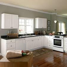 cool antique white kitchen cabinets with dark island
