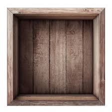 Download Wooden Box Or Crate Top View Isolated Stock Image