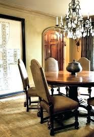 Mediterranean Dining Room Furniture Design Round Table Rug Unique