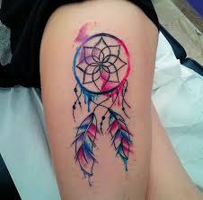 Colorful Dream Catcher Tattoo 25