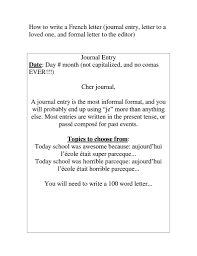 Format Of Informal Letter In French New Format Writing Informal