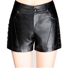 leather black shorts womens promotion shop for promotional leather