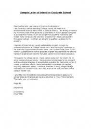 Letter Intent For Graduate School