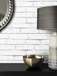 newroom papiertapete steintapete weiß ziegelstein backstein mauerwerk klinker tapete steinoptik wohnzimmer schlafzimmer flur tapete steinoptik