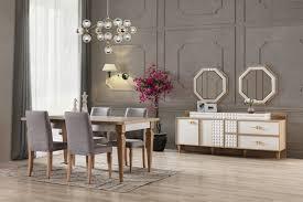 esszimmer sideboard venedik mit spiegel weiß trebela