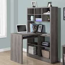 Monarch Specialties Corner Desk Brown by Corner Desks With Hutch For Writers And Home Offices Gift Ideas
