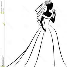 Vintage Wedding Dress Clip Art