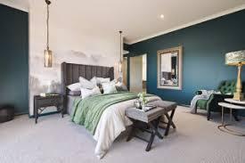 75 schlafzimmer mit blauer wandfarbe und teppichboden ideen