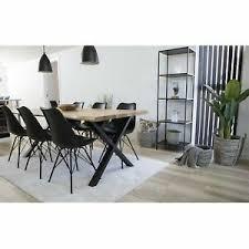 details zu tony 6 1 esszimmergruppe tisch stühle schwarz set sitzgruppe esstisch esszimmer