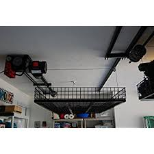 amazon com 4ft x 4ft celling mounted rack garage storage rack