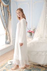 Lilys Secret Ultra Soft Gauze Vintage Night Gown Women Spring