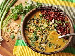 Haitian Pumpkin Soup Vegetarian by West African Peanut Soup Meets Khao Soi Extra Nuttiness Ensues