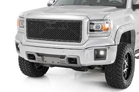 Mesh Replacement Grille For 2014-2015 GMC Sierra 1500 Pickup ... 2014 Gmc Sierra Front View Comparison Road Reality Review 1500 4wd Crew Cab Slt Ebay Motors Blog Denali Top Speed Used 1435 At Landers Ford Pressroom United States 2500hd V6 Delivers 24 Mpg Highway Heatcooled Leather Touchscreen Chevrolet Silverado And 62l V8 Rated For 420 Hp Longterm Arrival Motor Lifted All Terrain 4x4 Truck Sale First Test Trend Pictures Information Specs