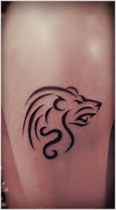 Simple Tribal Lion Tattoo