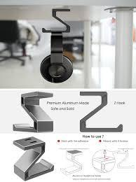 Cpu Holder Under Desk Mount Small by Amazon Com Headphone Stand Hanger Beeiee Aluminum Under Desk Z