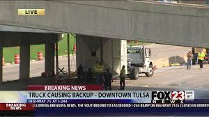 100 Truck Stuck Under Bridge Latest Tulsa News Videos FOX23