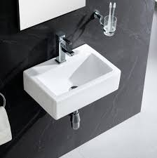 Fine Fixtures Vitreous China Rectangular Wall Mount Bathroom Sink ... Modern Sinks With Mirror In Public Toilet Stock Photo Picture And 10 Amazing Modern Bathroom Sinks For A Luxurious Home Bathroom Art Design Designer Vessel Modo Bath Illustration Of Floating Vanity Ideas Every Real Simple Arista Sink By Wyndham Collection Ivory Marble Free Designer Vesel Drop Finishes Central Arizona Porcelain Above Counter White Ceramic 40 Double Vanities Lusso Encore Wall Mounted Unit 1200