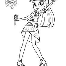 My Little Pony The Movie Twilight Sparkle Coloring Page Sings