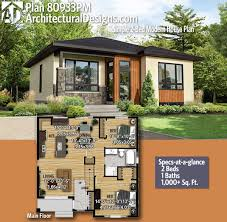 100 Architectural Houses Plan 80933PM Simple 2Bed Modern House Plan Modern House