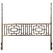 faux bamboo chinese chippendale vintage king size headboard bed