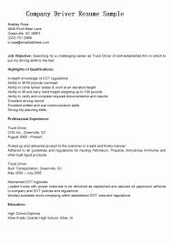 Truck Driver Resume No Experience Best Of 30 Delivery Driver Resume ...