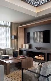 Fantastic Living Room Modern Fireplace Subtle Opulence Penthouse Stylish Wall Units