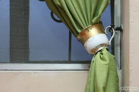 Antler Curtain Tie Backs by Ways To Tie Curtains Centerfordemocracy Org