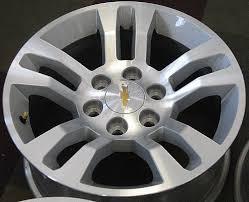 100 Oem Chevy Truck Wheels 2016 2017 2018 CHEVY SILVERADO 1500 18 FACTORY ORIGINAL OEM ALLOY