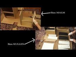Ikea Kullen Dresser 6 Drawer by Ikea Kullen Vs Malm Assembled 2 Drawer Chests Youtube