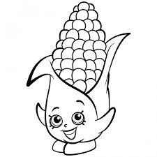 Shopkins Season Coloring Pages Exclusive Corny Cob Of Cornucopia Corn Plants