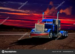Bright Blue Semi Truck Deserted Road Beautiful Sunset Sky Wide ... Tesla Unveils Its Electric Semi Truck And Adds A Roadster The Big Sleepers Come Back To The Trucking Industry Trucks Heavyduty Available Models How Wide Is A Semitruck Referencecom Trailer Length 53 Feet Is Not Standard Evywhere 5 Questions We Still Have About Lil Rigs Mechanic Gives Pickup An Eightnwheeler M1088 Tractor What Of Lorry Range Of Up 600 Miles Says Musk Autocar Wallpaper On Everything Trucks Kenworth Rightsizes New Model