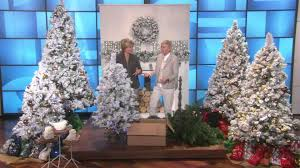 ED On Air 9 Flocked Sherwood Spruce Tree By Ellen DeGeneres With Carolyn Gracie