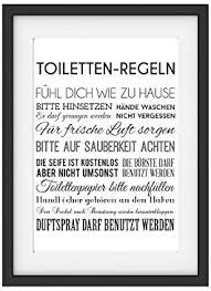 interluxe kunstdruck toiletten regeln wc badezimmer lustig din a4