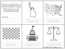 Memorial Day Worksheet Free Printable Coloring Pages