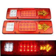 2pcs 19 LED Car Truck Trailer Rear Tail Stop Turn Light Indicator ... Truck Lights Led Interior Exterior Trucklite 35 Series Marker Clearance Light Lite Headlight Ece 27491c 4 Inch Round Emergency Tail And Trailer W Reflector Brake Off Road 1224 Volts Black Chrome Finish Forti Usa 12v 16 Leds Stop Turn For Led Auto Car Caravan Side 2leds Choosing The Right 4wheelonlinecom 2pcs License Plate Square Upgrade Your Trucks With Maxxima Lights View Collection Westin Bars Trucks By