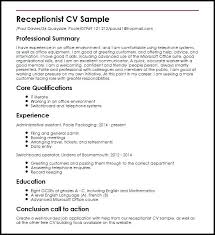 Resume Sample As Receptionist Well To Make Amazing Front Desk Doctors