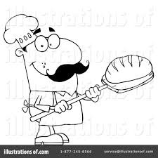 Royalty Free RF Baker Clipart Illustration by Hit Toon