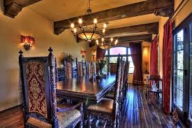 Rustic Dining Room With Spanish Style Furniture