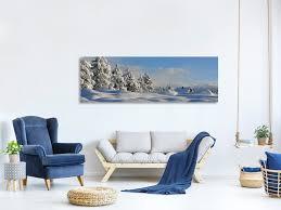 leinwandbild panorama schöne schnee landschaft