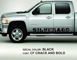 Product: 2 SILVERADO Rocker Panel Door Runner Decal Fits: Chevy ...