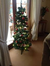 4 Ft Pre Lit Christmas Tree Asda by 5ft Pop Up Pre Lit Led Christmas Tree Red And Gold Baubles