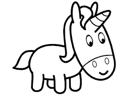 Pink Fluffy Unicorn Coloring Page