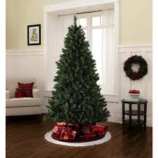 Unlit Artificial Christmas Trees Made In Usa by 7 Foot Unlit Pine Christmas Tree Celebrate The Holidays With Kmart