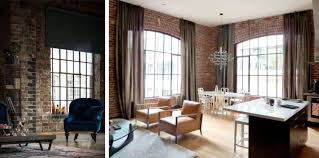 Industrial Style Window Treatments / Brick Wall / Industrial ...