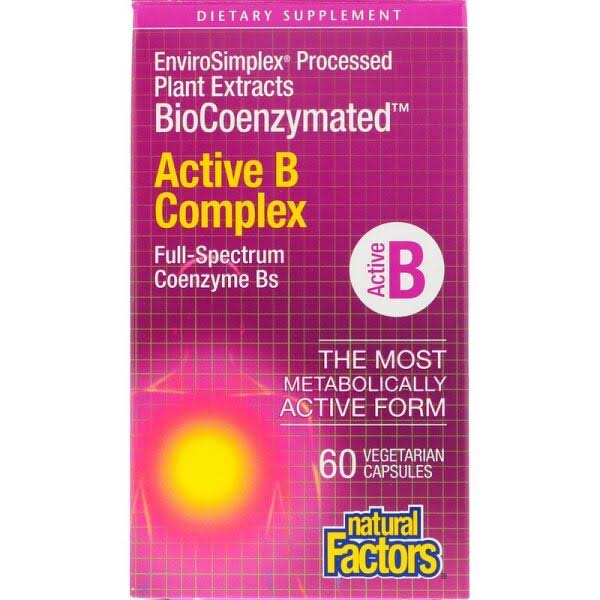 Natural Factors BioCoenzymated Active B Complex - 60 - VegCap