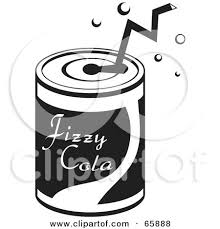 Black And White Straw In A Soda Can by Prawny