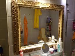 antiker barocksti spiegel in gold