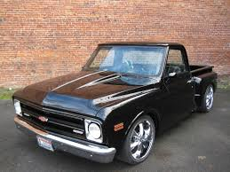 Very Nice 1968 Chevy, Step Side, Custon Show Truck, Black Beauty ...