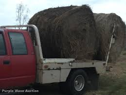 Used Deweze Bale Beds For Sale by 1993 Chevrolet 3500 Ext Cab Flatbed Pickup Truck Item Bg9