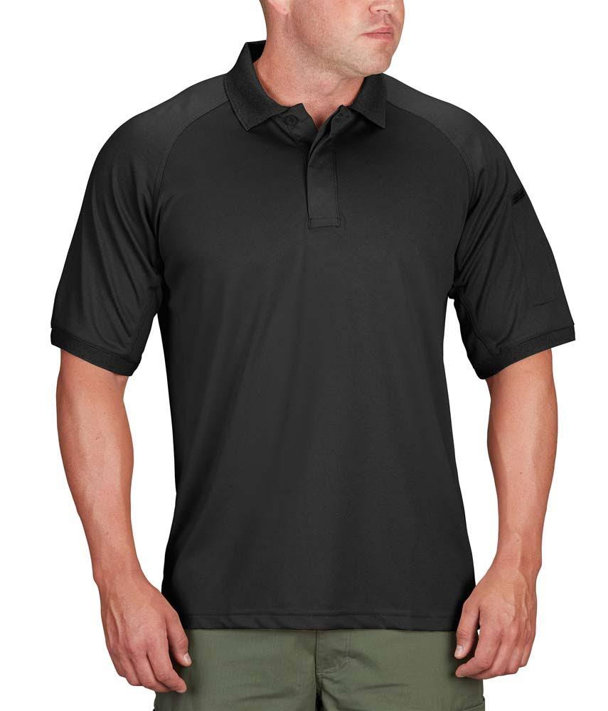 Propper Men's Snag Short Sleeve Polo - Black, Large